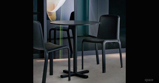 bold black cafe tables