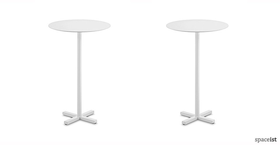 bold white bar height tables