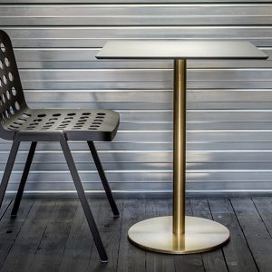 Book black chair and brass table