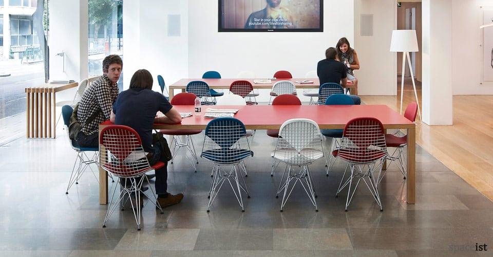 bosa colourful laminate meeting tables