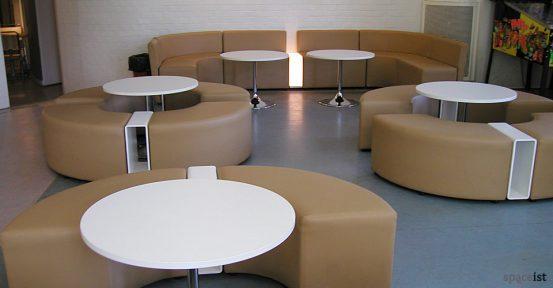 circle modular cubes in brown vinyl