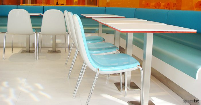 butterfly pink green red blue white designer cafe chairs