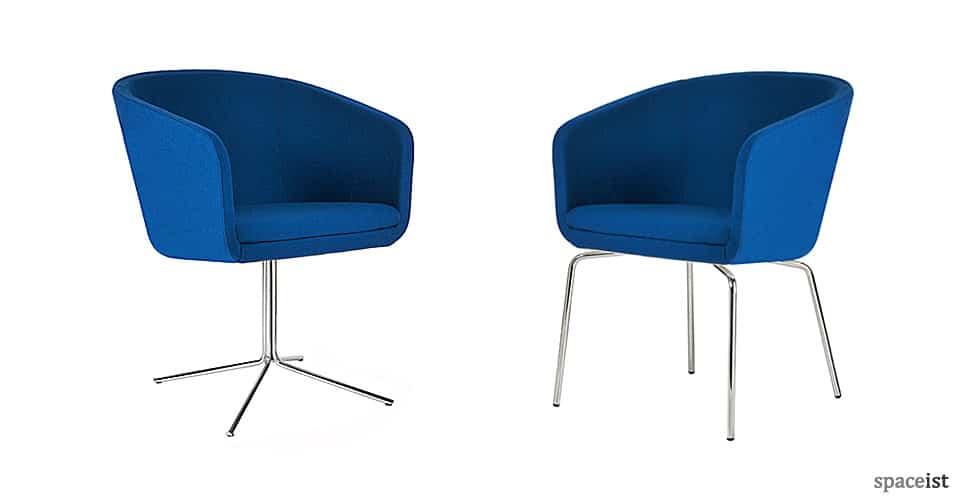 Cabin blue tub chairs