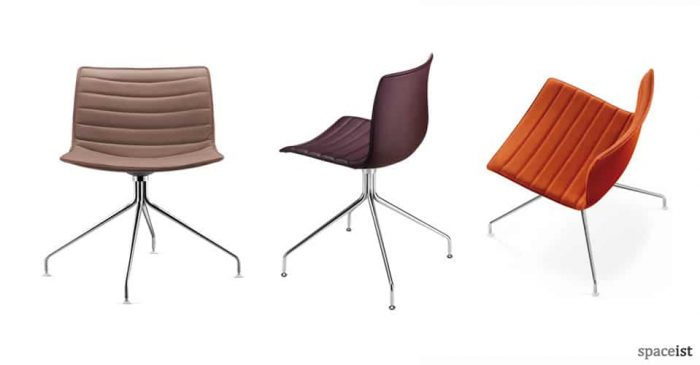 catifa orange leather meeting chairs