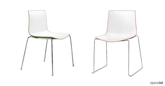 catifa red green cafe chairs