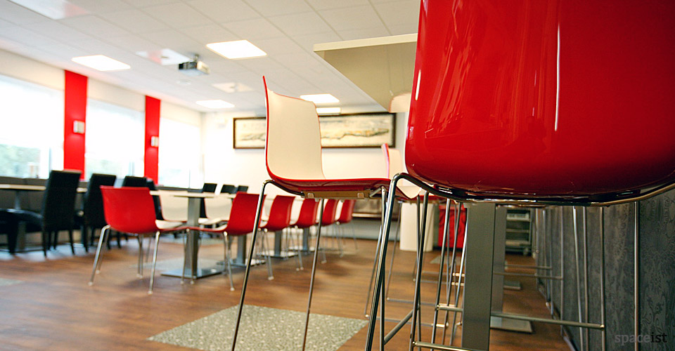 catifa red designer cafe chairs