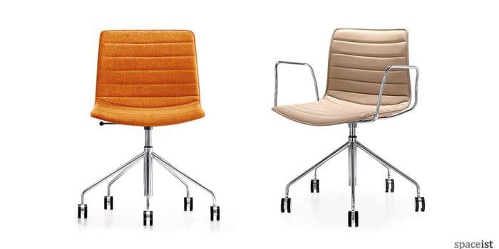 catifa orange star base chairs