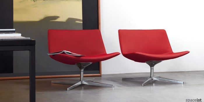 catifa80 red leather reception chiars