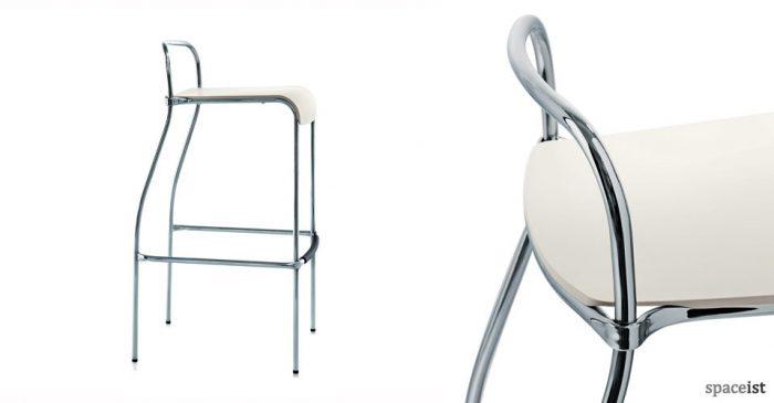 centomila modern white bar stools