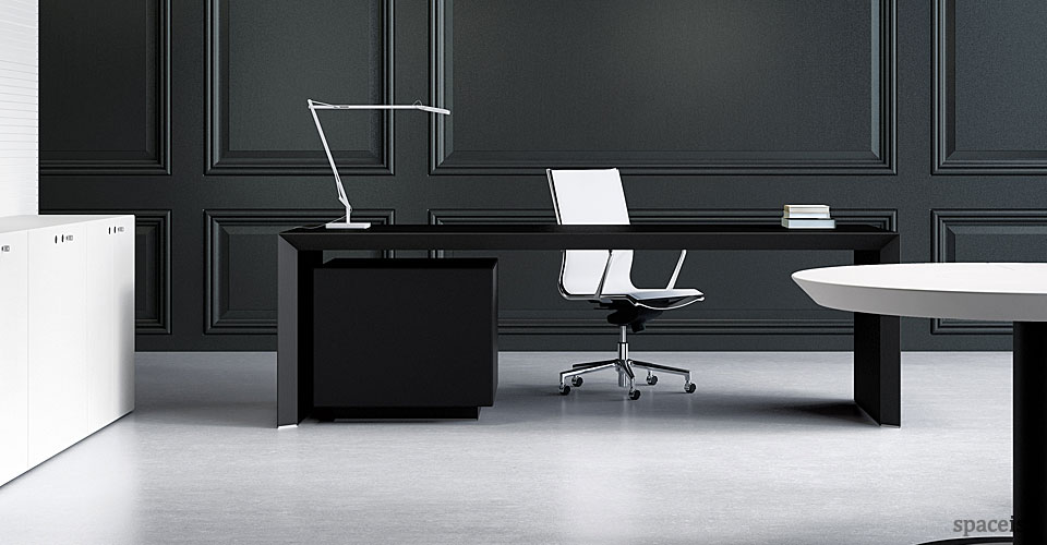 Office Desks Ceo Desk Black Leather