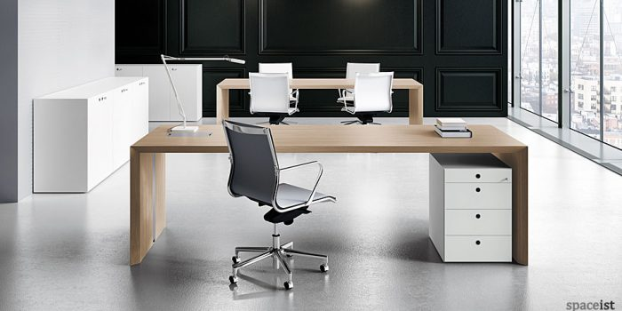 CEO oak executive desk