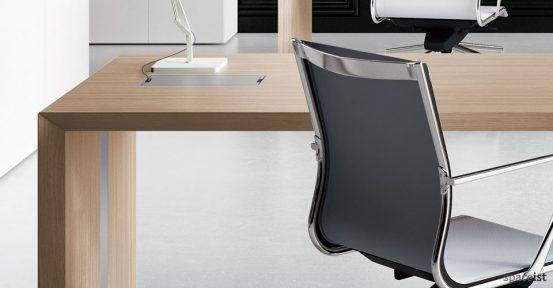 CEO oak executive desk