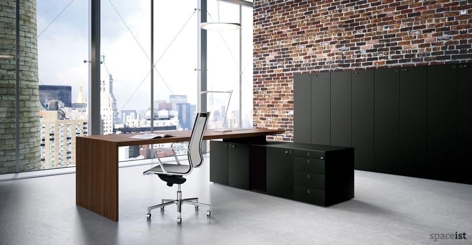 CEO walnut executive desk