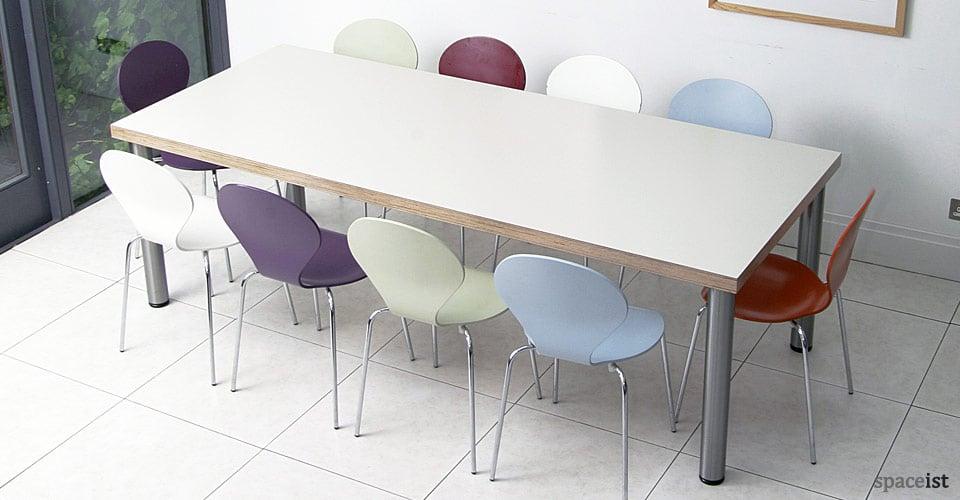 colour canteen tables