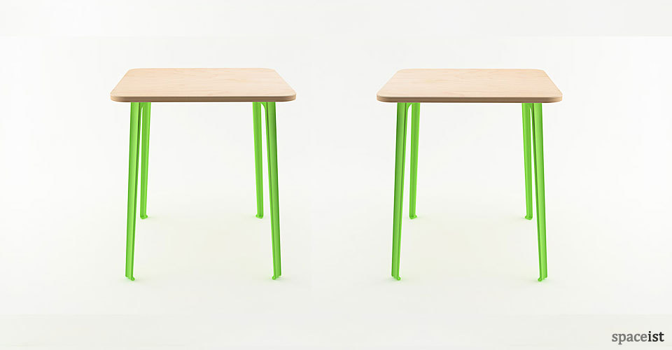 coloured aluminium leg cafe table