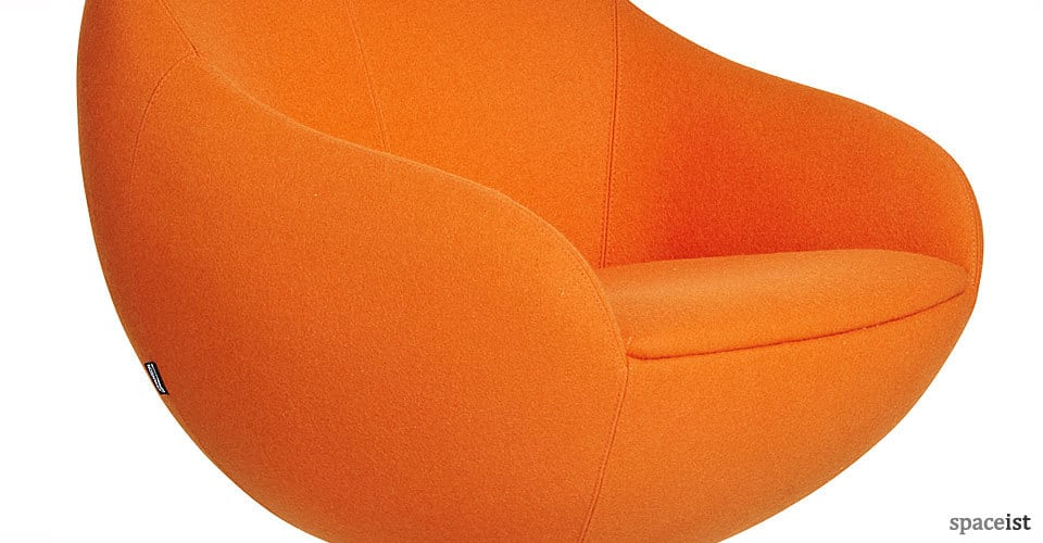 comet egg shape orange reception chairs