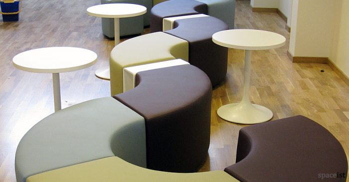 wavy vinyl modular cubes