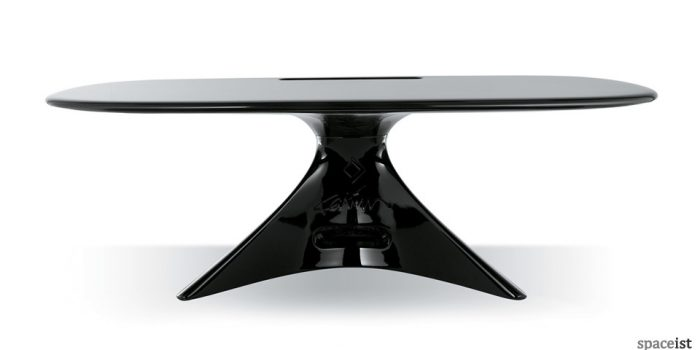 curvy zero black reception desk