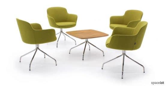 danny moss green curvy meeting chair