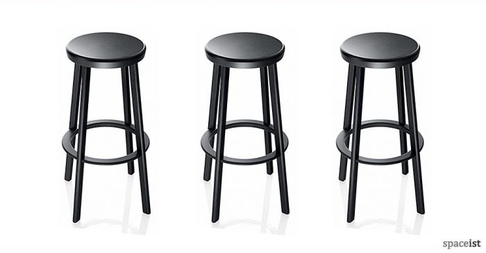 deja vu black bar stools