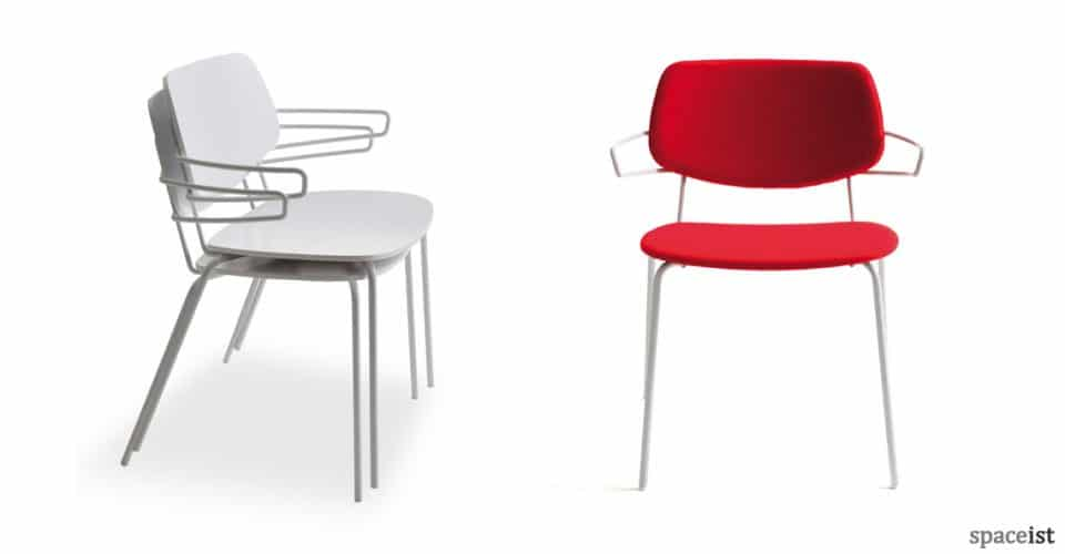 Dolli red meeting room chair