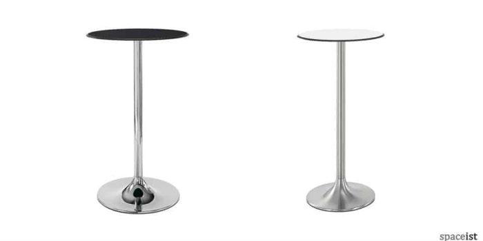 dream black and chrome bar tables