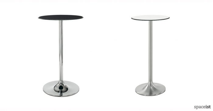 dream black and chrome bar tables
