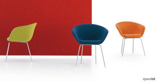 duna colourful meeting chairs