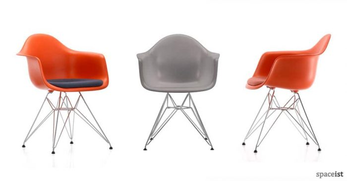 eames armchair red meeting chairs