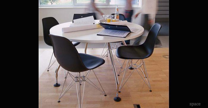 eames black meeting chairs