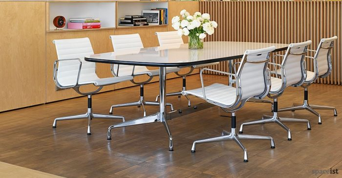 eames leather meeting chairs ... & Leather meeting room chairs | chrome meeting room chairs