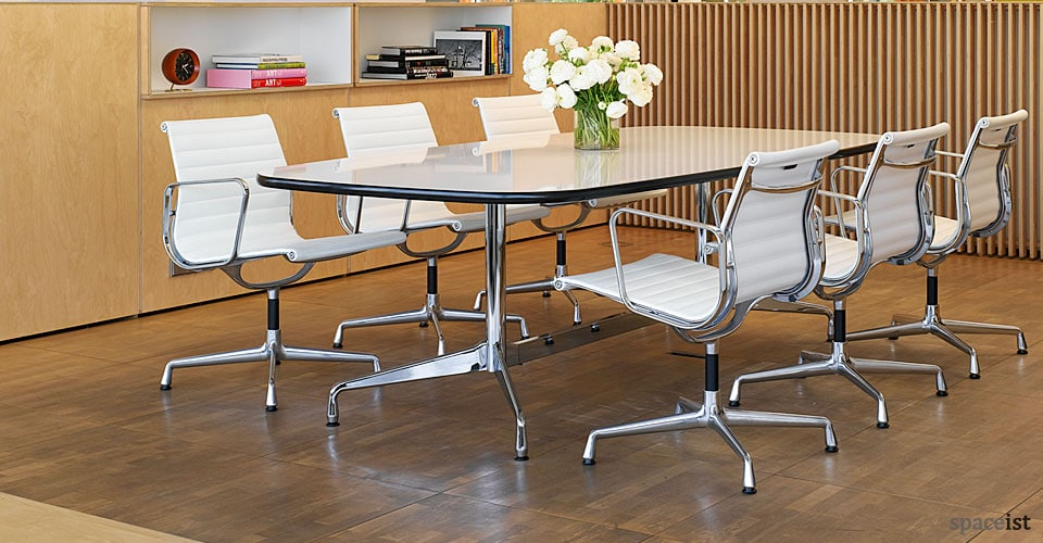 Meeting chairs eames leather chair Room and board furniture quality