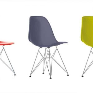 eames red green chairs