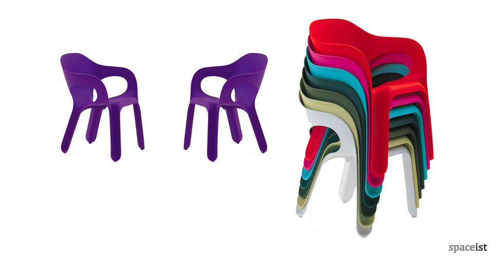 easy red purple green blue white outdoor cafe chairs