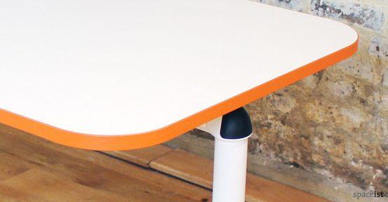 Edge folding meeting room table