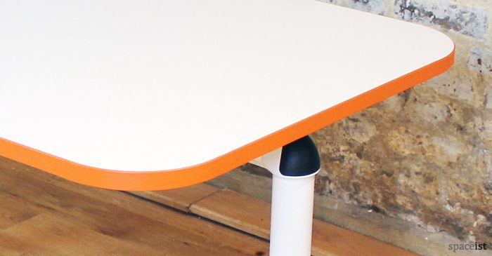 Edge folding meeting room table