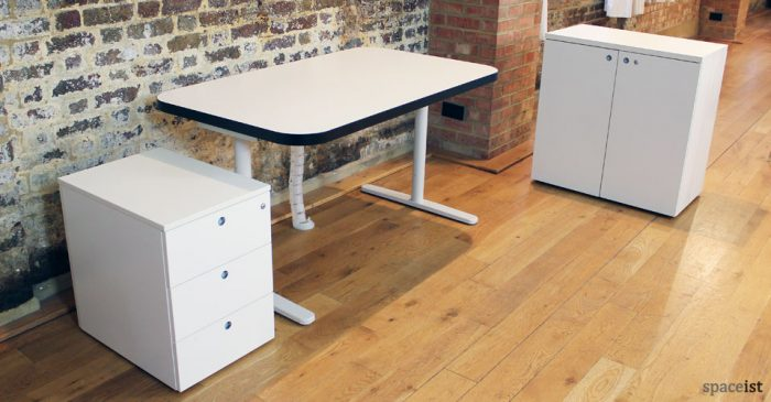 edge white black office desk