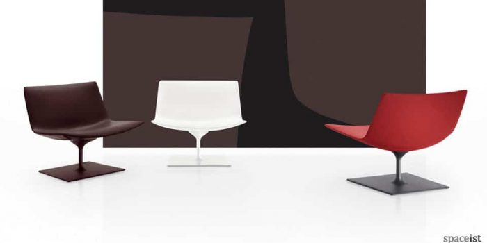 eighty black red reception chairs