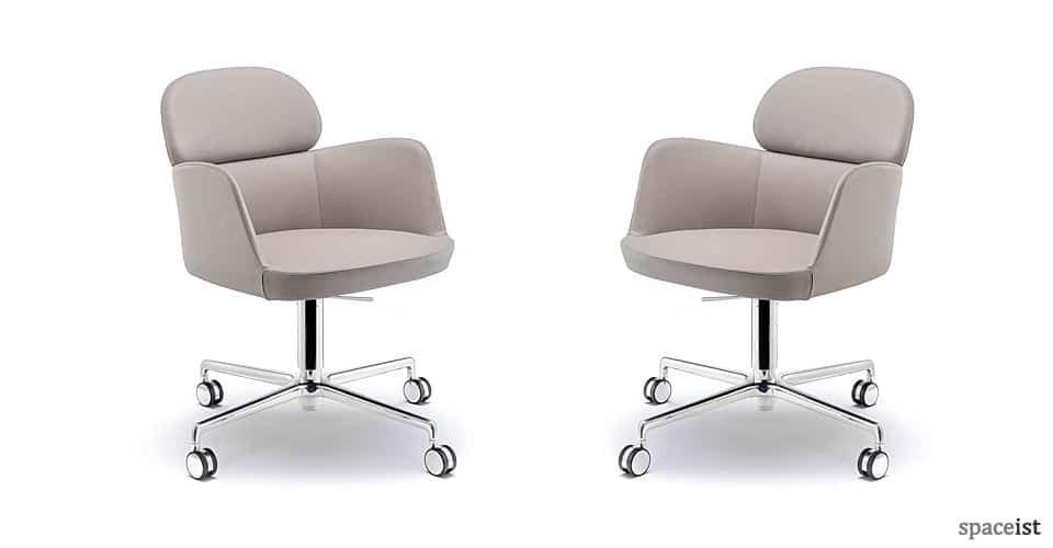 Ester Leather Desk Chair, Stylish Office Furniture Uk