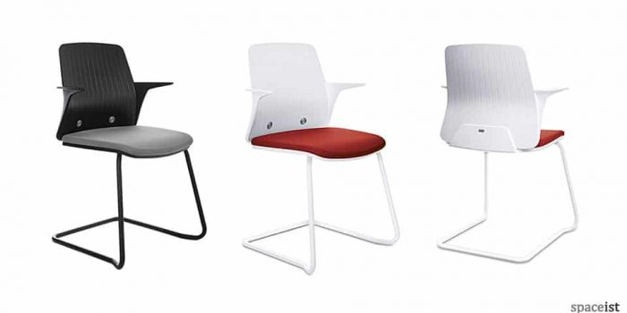 Every white and black cantilever chair