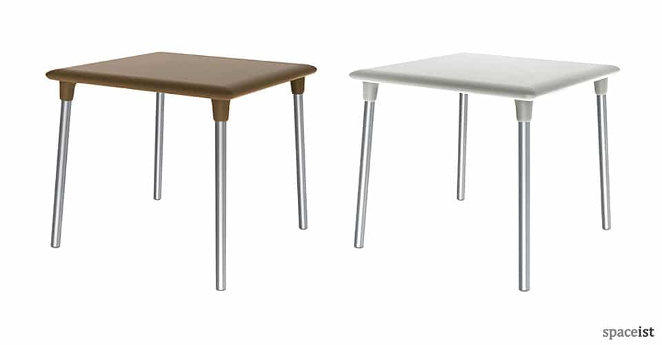 Flash four person plastic outdoor cafe table