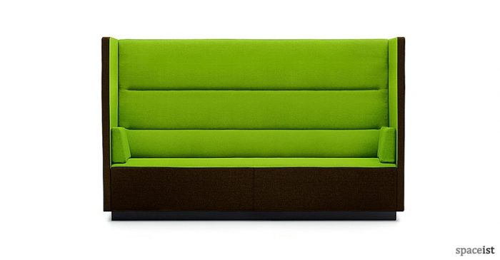 Float green high back reception sofa
