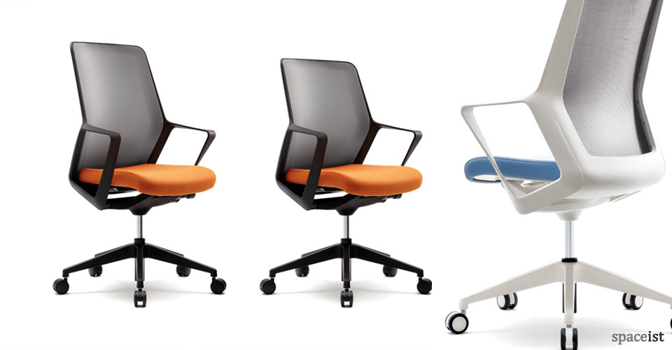 flow orange and black office chair