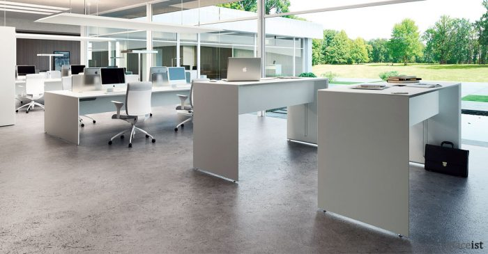 Forty-five standing height meeting table