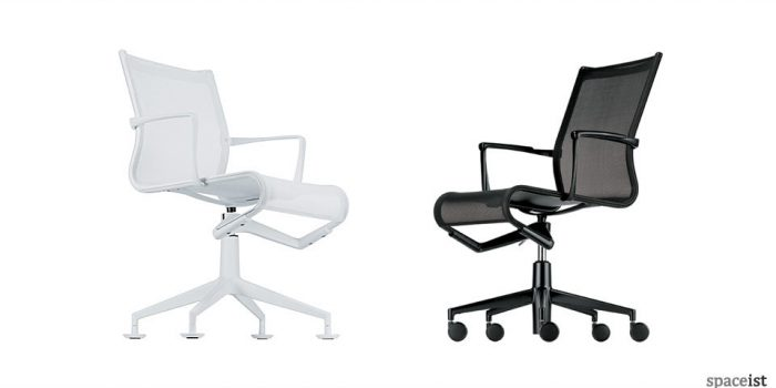 frame black mesh executive chairs