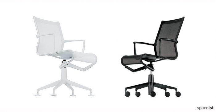 frame black mesh executive chairs