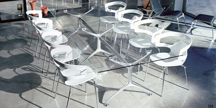 frame clear glass boardroom tables