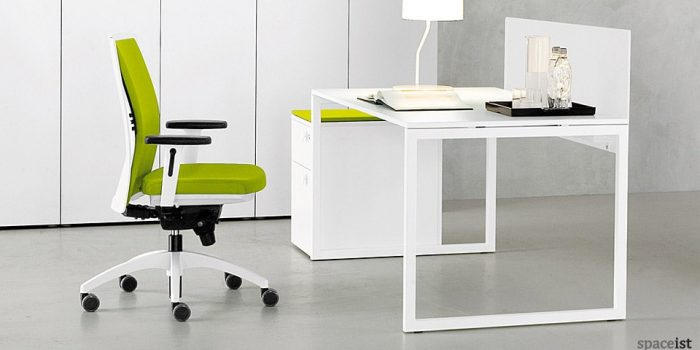 frame modular white office desk