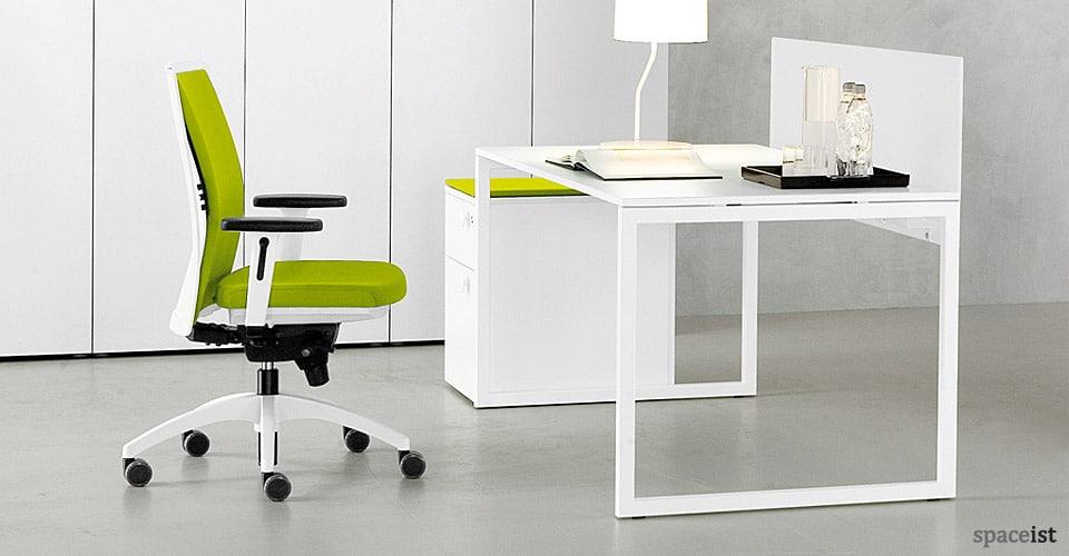 frame modular white office desk