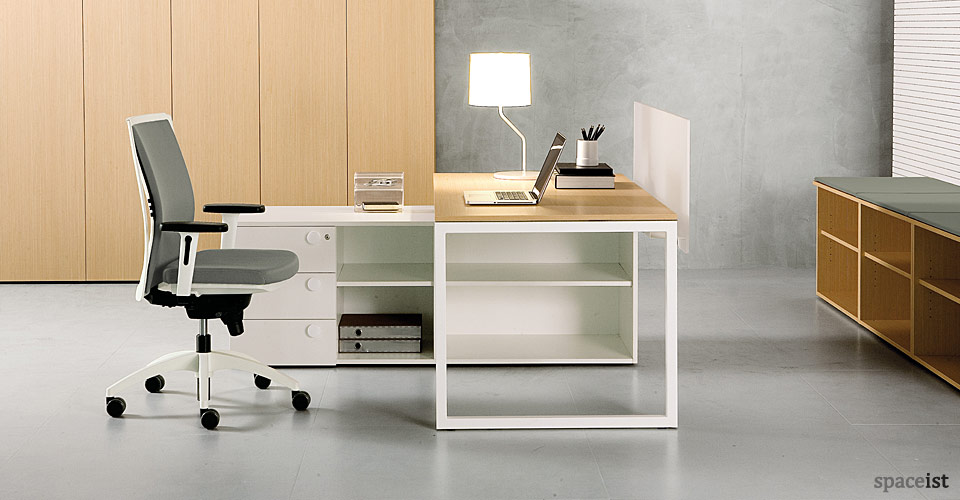 frame oak office desks
